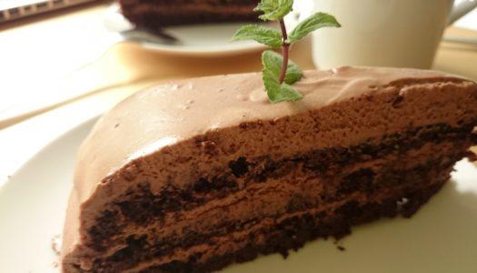 Шоколадно-ромовый торт для снятия стресса