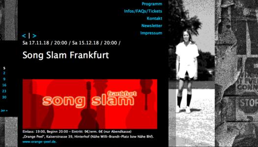 15 Dezember Song Slam Frankfurt