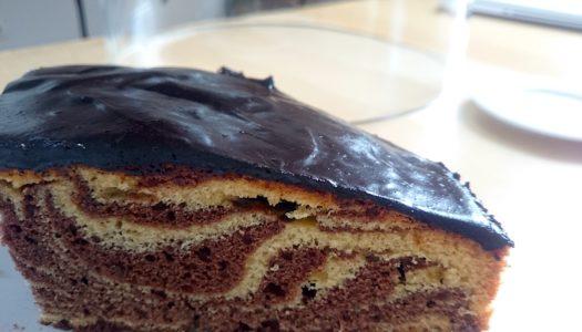 «Зебра» –  вкусный шоколадно-полосатый торт-кекс